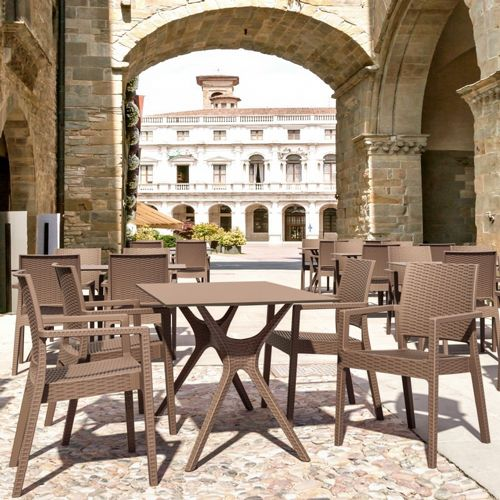 Ibiza Rectangle Patio Dining Set 5 Piece ISP8642