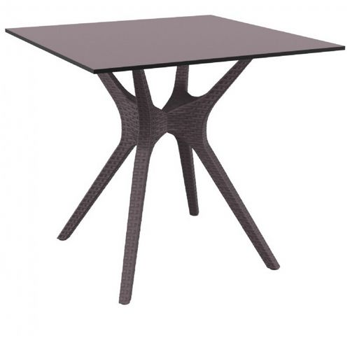 Ibiza Square Outdoor Dining Table 31 inch Brown ISP863-BR