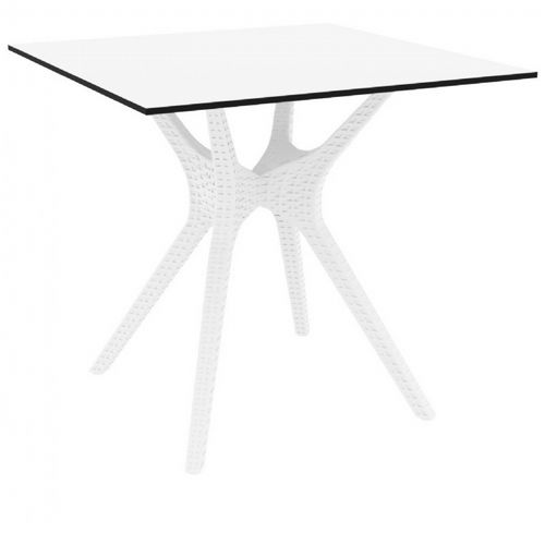 Ibiza Square Outdoor Dining Table 31 inch White ISP863-WH
