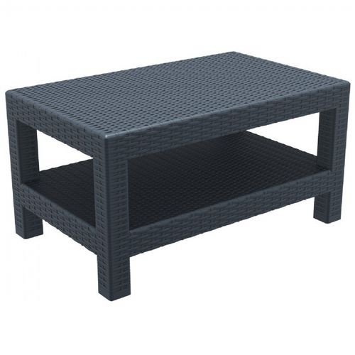 Monaco Wickerlook Resin Patio Lounge Table Dark Gray ISP838-DG