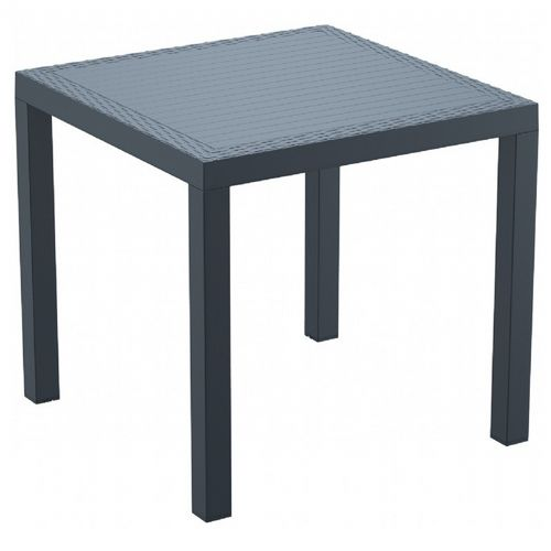 Outdoor Furniture Orlando: Orlando Wickerlook Resin Square Patio Dining Table Dark