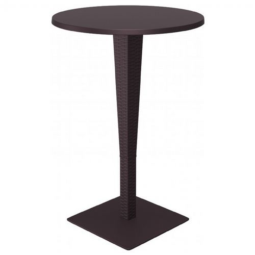 Riva Wickerlook Resin Round Bar Table Brown 28 inch. ISP886-BR