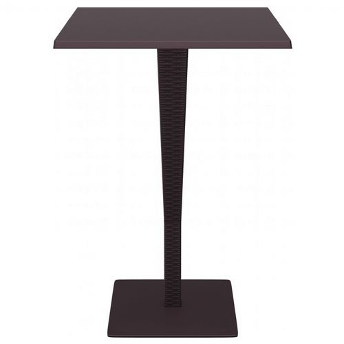 Riva Wickerlook Resin Square Bar Table Brown 28 inch. ISP888-BR