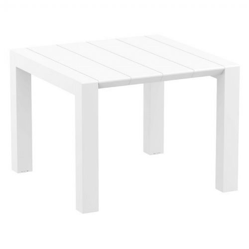 Vegas Outdoor Dining Table Extendable from 39 to 55 inch White ISP772-WH
