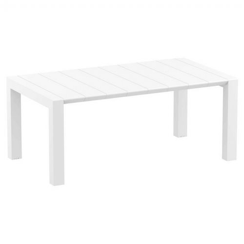 Vegas Outdoor Dining Table Extendable from 70 to 86 inch White ISP774-WH