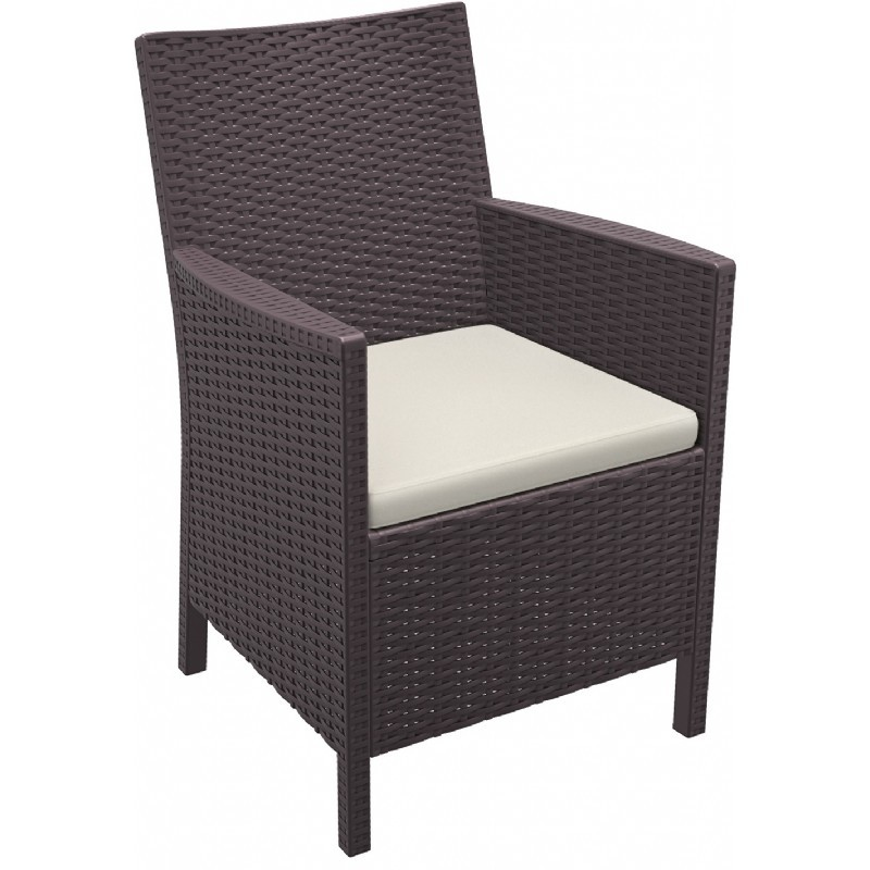 California Wickerlook Resin Patio Chair Brown
