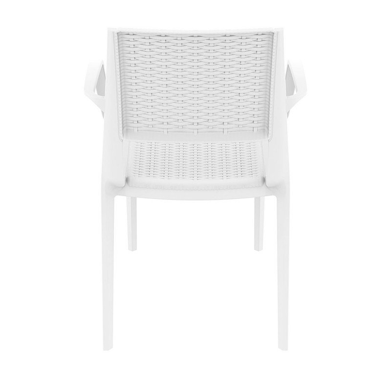 Capri Wickerlook Resin Patio Armchair White alternative photo
