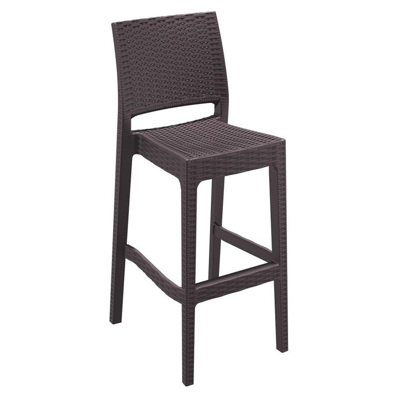 Jamaica wickerlook resin bar chair brown isp br cozydays