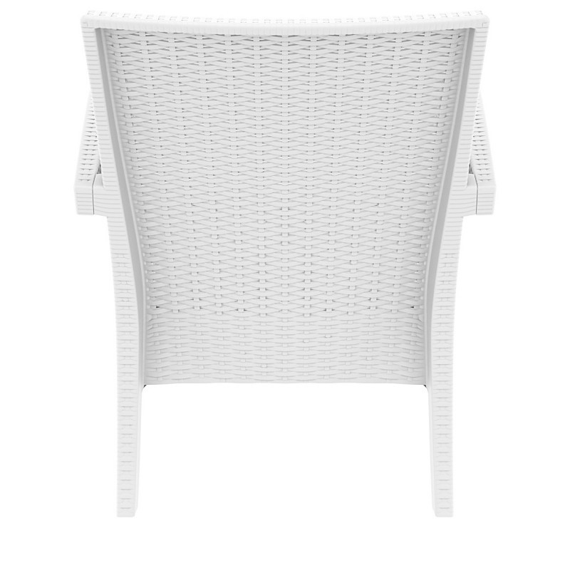 Miami Wickerlook Resin Patio Club Chair White alternative photo #1