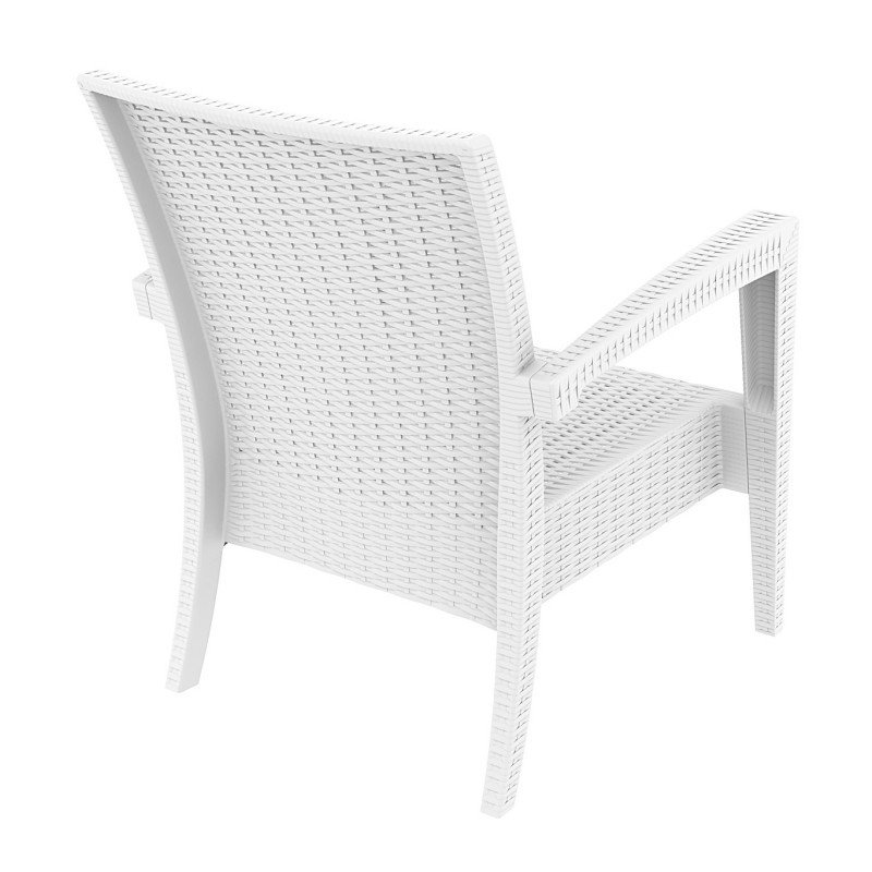 Miami Wickerlook Resin Patio Club Chair White alternative photo #2
