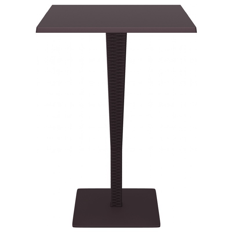 Riva Wickerlook Resin Square Bar Table Brown 28 inch.