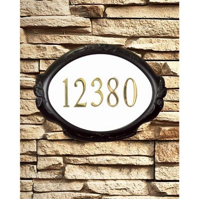 Special Lite SAP-4110-MOC Floral Address Plaque SAP-4110-MOC
