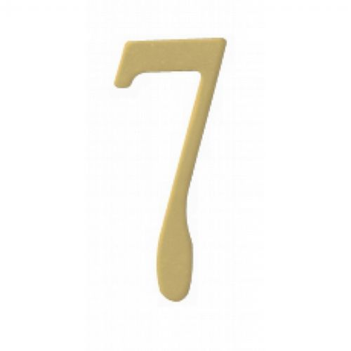 "Special Lite 2"" Brass Self Adhesive Address Number. Number: 7 BR2-7"