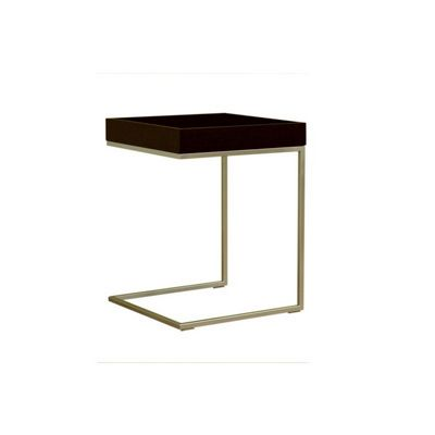 Black Wood Top C Table with Case Top BX-LC-015