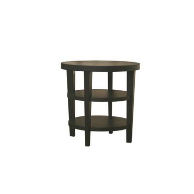 Charleston Modern Black Wood Round End Table BX-CT-112-BLACK
