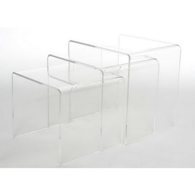 Clear Acrylic Nesting Table 3-Pc Set BX-FAY-510