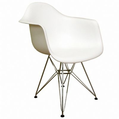 Dario White Resin Plastic Accent Chair BX-DC-622C-WHITE