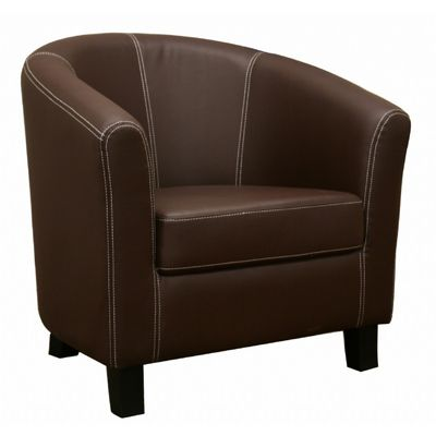 Elijah Dark Brown Faux Leather Modern Club Chair BX-J-018-DB