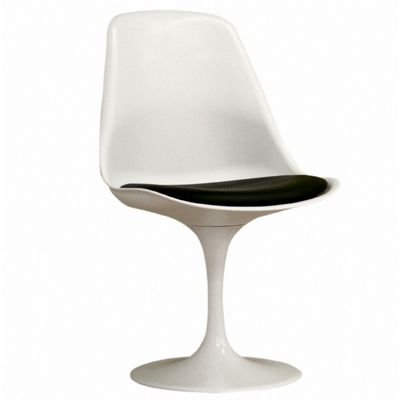 Ergonomic Modern Plastic Side Chair White BX-DC-211B-WHITE