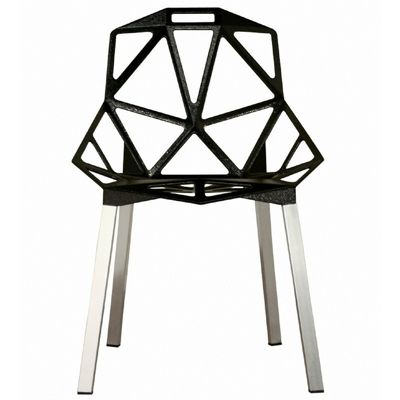 Kaysa Black Aluminum Accent Chair BX-DC-362-BLACK