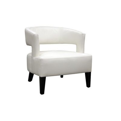 Lemoray Off-White Leather Modern Club Chair BX-A-733-8143