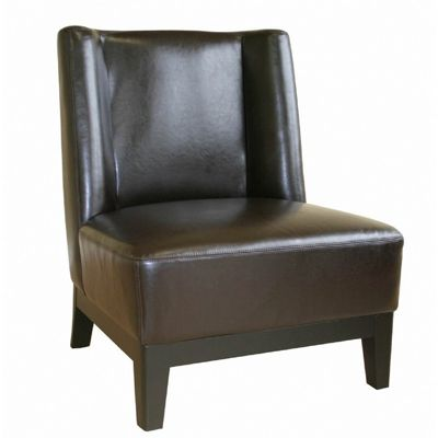 Low-Slung Dark Brown Leather Club Chair BX-A-179-001