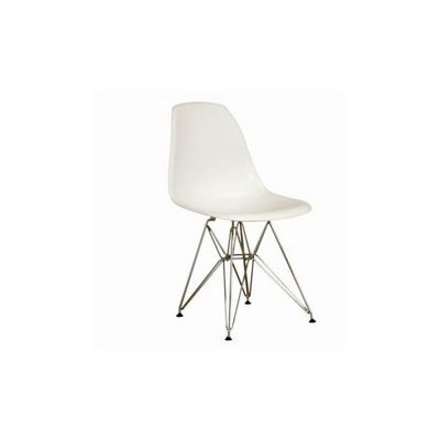 Modern Plastic White Side Chair with Steel Legs BX-DC-231-WHITE