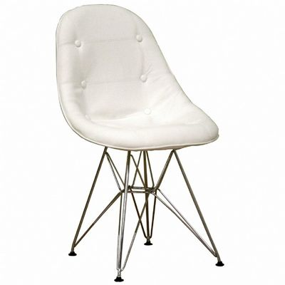 Modern White Faux Leather Ami Side Chair BX-DC-33A-V-WHITE
