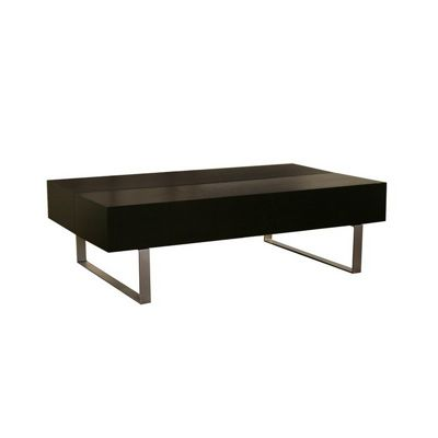 Noemi Black Modern Coffee Table with Storage Compartments BX-CT-120-BLACK