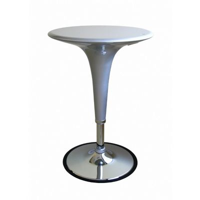 Nu Round Adjustable Height Table Silver BX-B911-SV