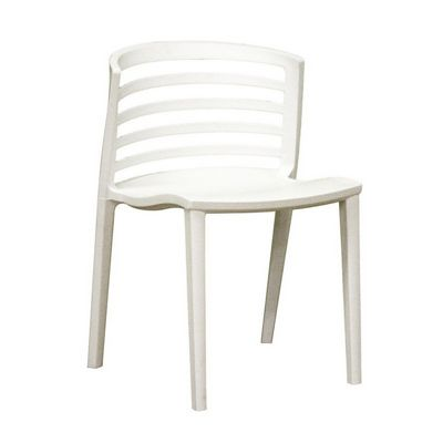 Ofilia White Resin Modern Outdoor Dining Chair BX DR84478 CozyDays