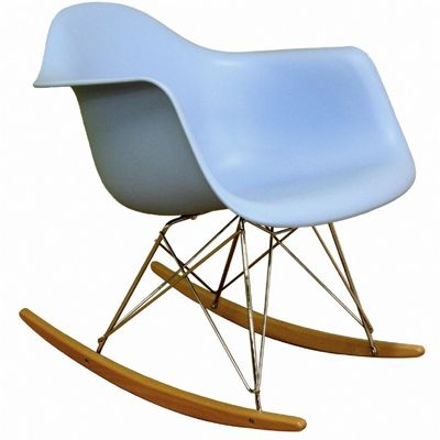 Rocking Blue Plastic Resin Accent Chair BX-DC-311W-BLUE