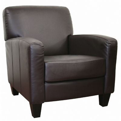 Stacie Brown Leather Modern Club Chair BX-A-150-206