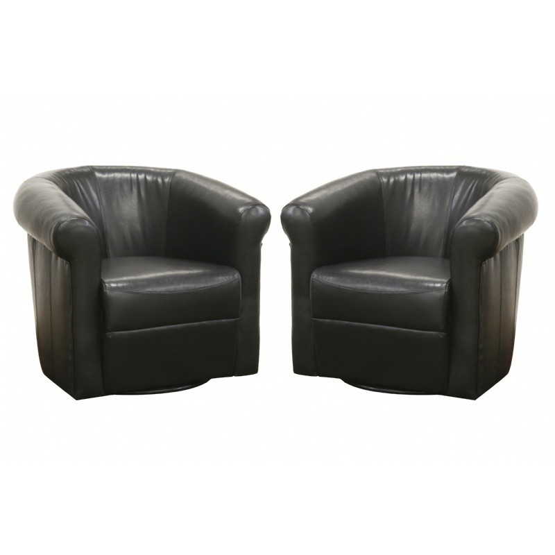 Julian Faux Leather Club Chair with 360 Degree Swivel : 99a282black2011092052214u0 from www.cozydays.com size 800 x 800 jpeg 65kB