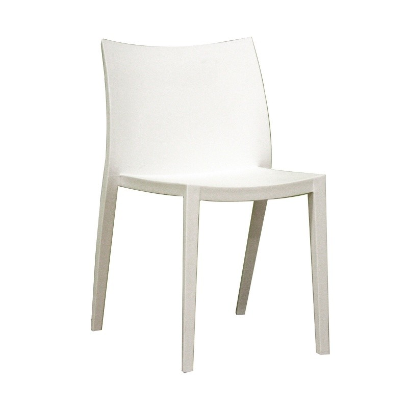 Modern white plastic chairs studio plastic modern dining for White plastic dining chair