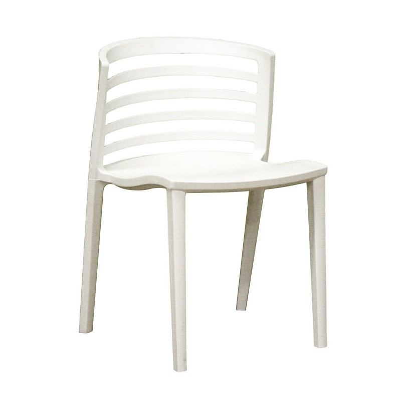 Ofilia white plastic contemporary dining chair for White plastic dining chair