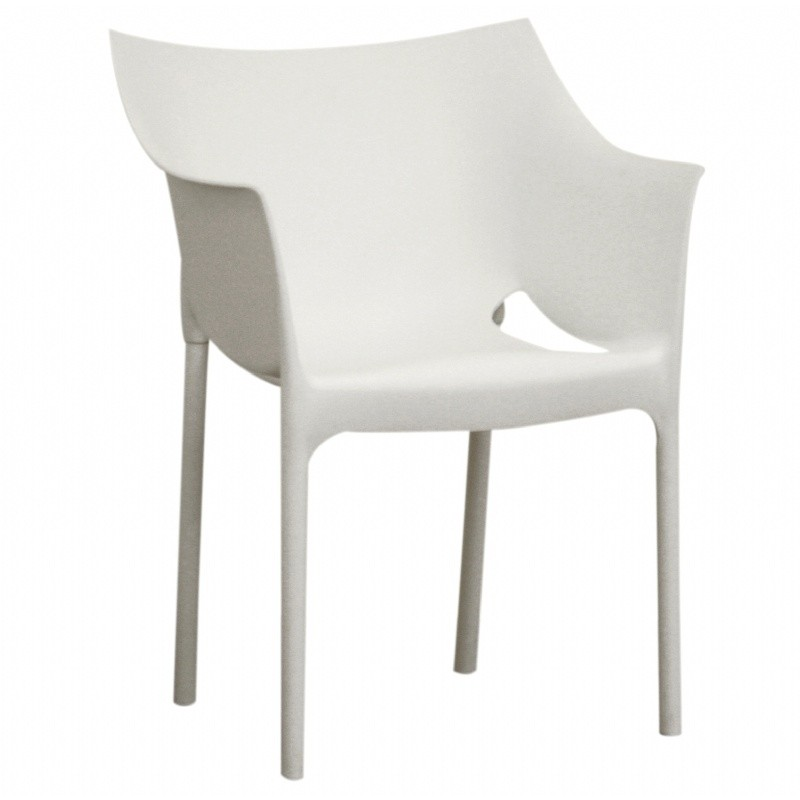 Swan White Resin Outdoor Dining Chair BX DC 58 WHITE O